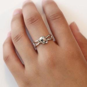 Jewelry - Female Fashion Charm Rose Flower Skull Ring Band
